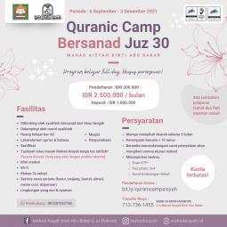 -Program Arabic Camp Bersanad Juz 30 bersama Syaikhah Bersanad dari Timur Tengah – Mahad Aisyah binti Abu Bakar